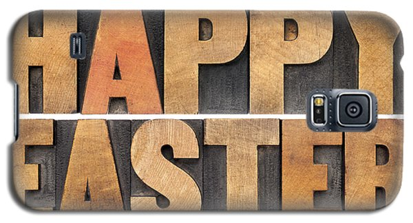 Happy Easter In Wood Type Galaxy S5 Case