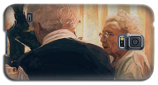Galaxy S5 Case featuring the painting Happy Elderly by Nop Briex
