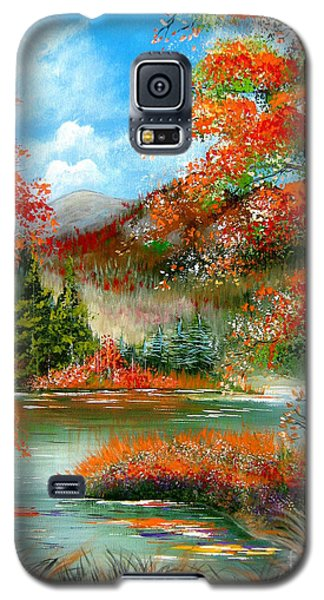 Galaxy S5 Case featuring the painting Happy Ever After Autumn  by Patrice Torrillo