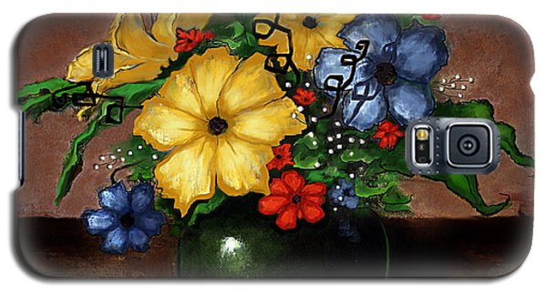 Galaxy S5 Case featuring the painting Happy Flowers by Terry Webb Harshman