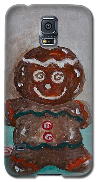 Happy Gingerbread Man Galaxy S5 Case by Victoria Lakes