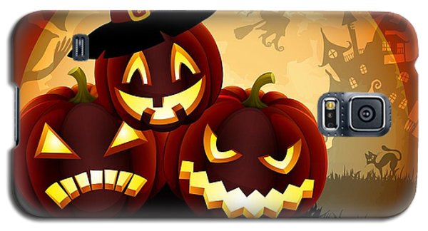 Galaxy S5 Case featuring the painting Happy Halloween by Gianfranco Weiss