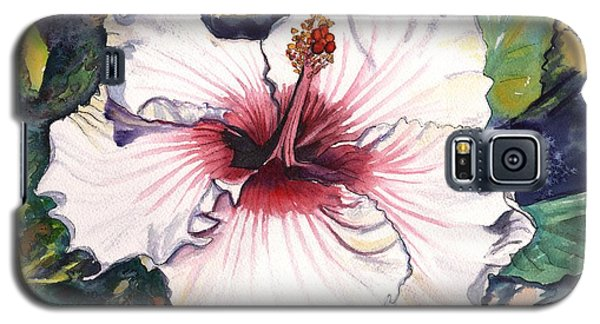 Galaxy S5 Case featuring the painting Happy Hawaiian Hibiscus by Marionette Taboniar