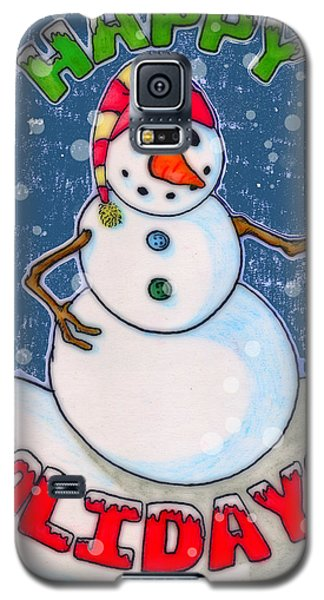 Happy Holidays Galaxy S5 Case by Jame Hayes