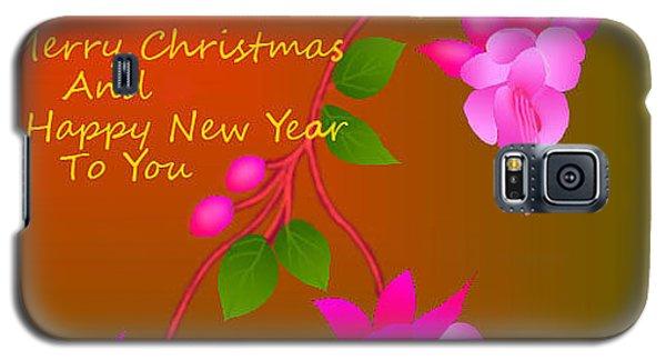 Galaxy S5 Case featuring the digital art Happy Holidays by Latha Gokuldas Panicker