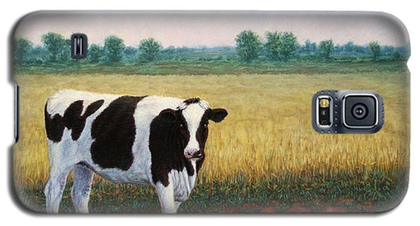 Cow Galaxy S5 Case - Happy Holstein by James W Johnson