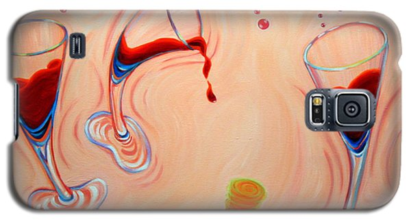 Galaxy S5 Case featuring the painting Happy Hour by Sandi Whetzel