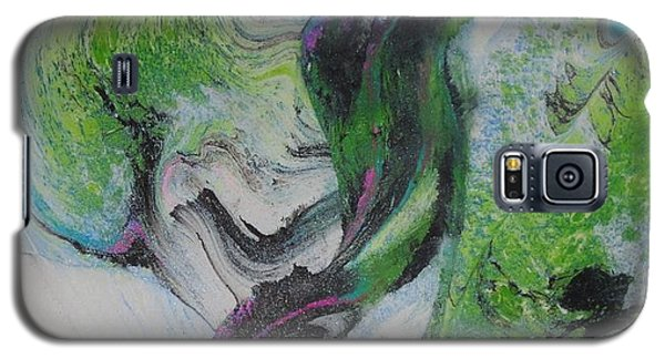 Galaxy S5 Case featuring the painting Happy by Mike Breau