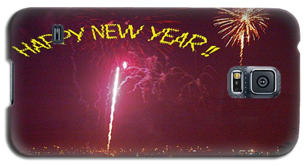 happy New Year fireworks Galaxy S5 Case by Gary Brandes