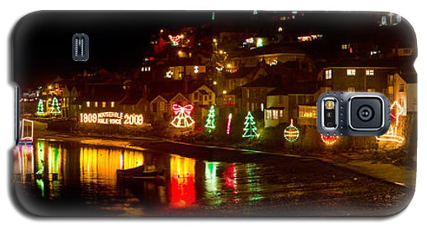 Happy New Year Mousehole Christmas Lights Galaxy S5 Case