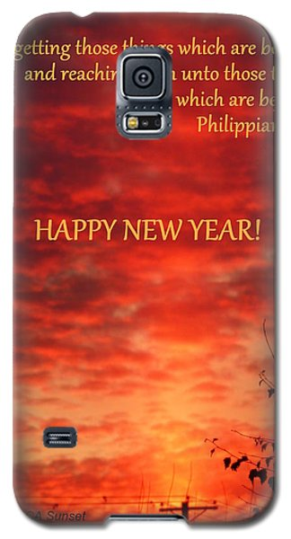 Galaxy S5 Case featuring the photograph Happy New Year Sunset by Cindy Wright