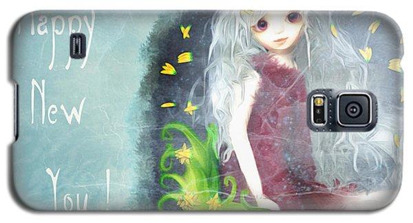 Galaxy S5 Case featuring the digital art Happy New You by Barbara Orenya