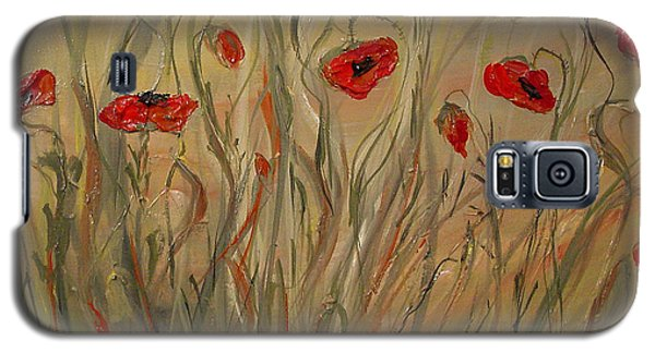 Galaxy S5 Case featuring the painting Happy Poppies by Dorothy Maier