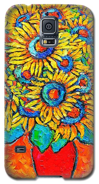 Happy Sunflowers Galaxy S5 Case