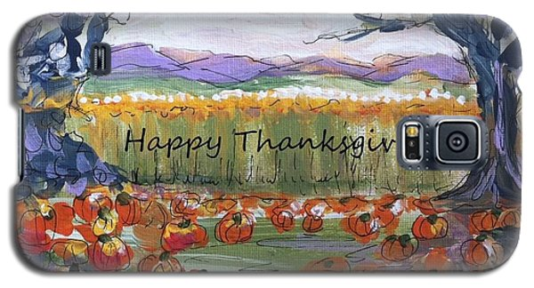 Happy Thanksgiving Greeting Card Galaxy S5 Case