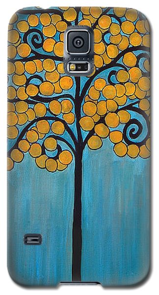 Happy Tree In Blue And Gold Galaxy S5 Case
