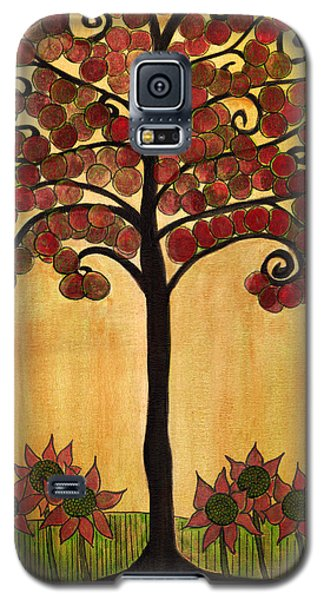 Happy Tree In Red Galaxy S5 Case