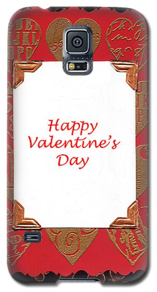 Galaxy S5 Case featuring the photograph Happy Valentines Day Card by Vizual Studio