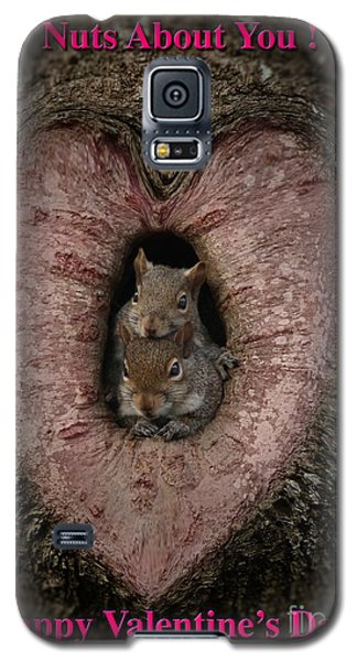 Happy Valentine Squirrels Galaxy S5 Case