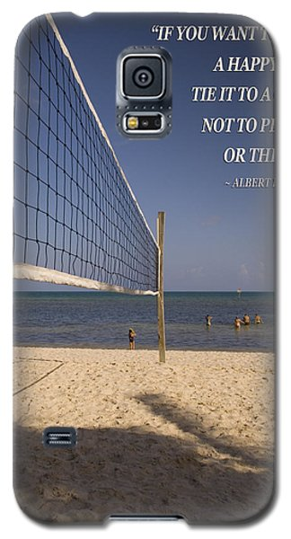 Happy Volleyball Goal Galaxy S5 Case by Bob Pardue