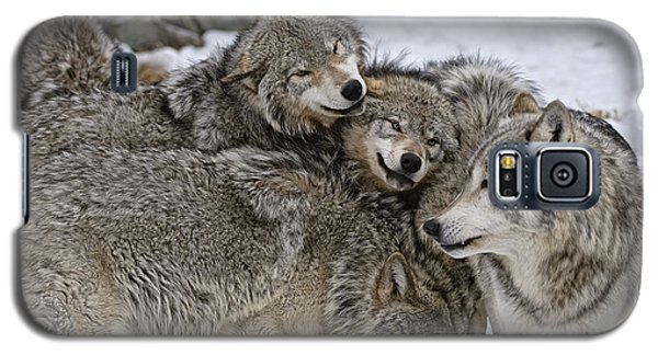 Happy Wolf Pack Galaxy S5 Case by Wolves Only