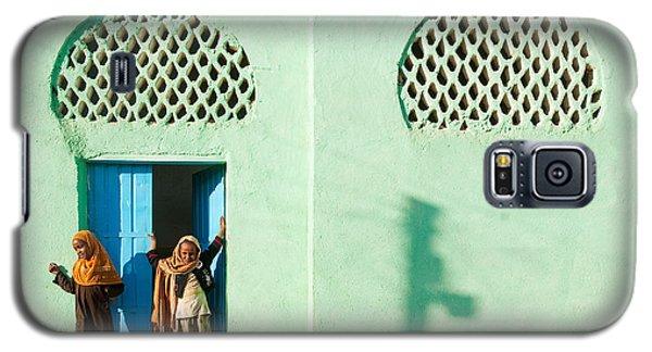 Harar Ethiopia Old Town City Mosque Girls Children Galaxy S5 Case