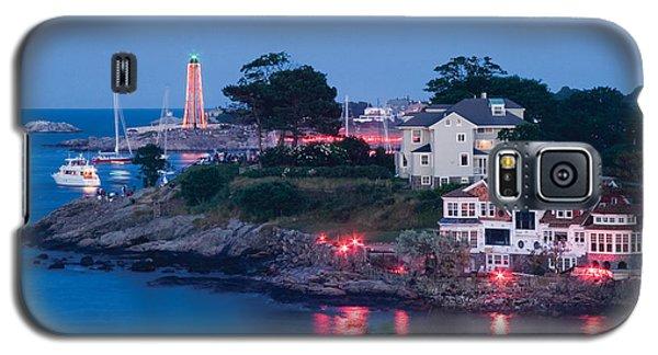 Marblehead Harbor Illumination Galaxy S5 Case by Jeff Folger