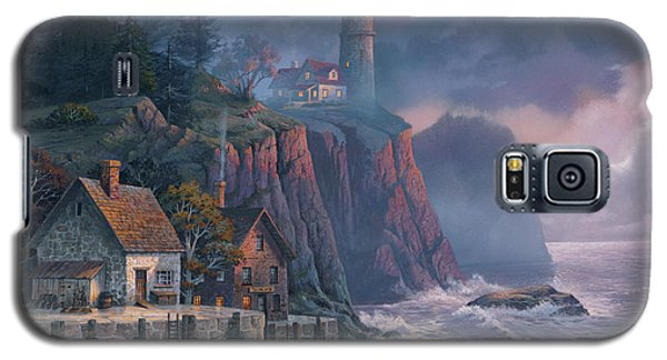 Galaxy S5 Case featuring the painting Harbor Light Hideaway by Michael Humphries