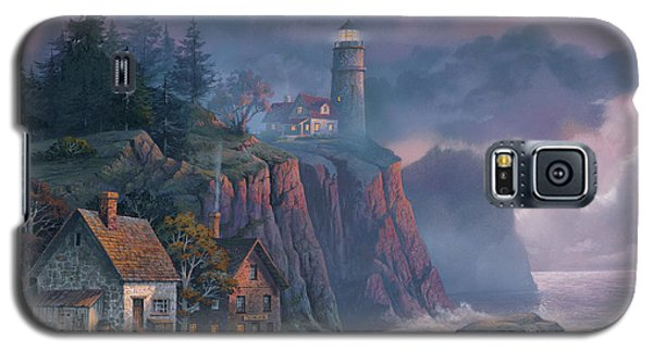 Galaxy S5 Case - Harbor Light Hideaway by Michael Humphries