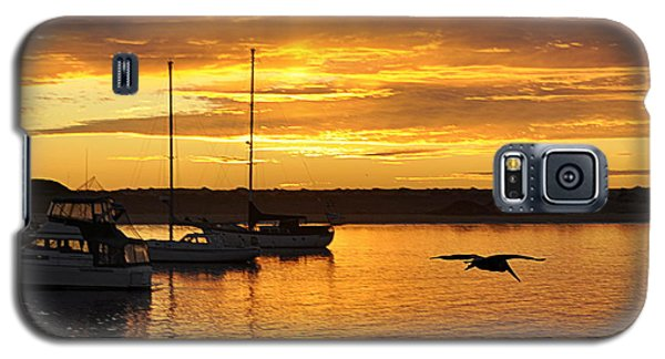 Galaxy S5 Case featuring the photograph Harbor Sunset by AJ  Schibig