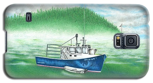 Galaxy S5 Case featuring the drawing Harbor by Troy Levesque