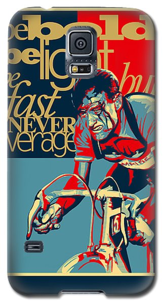 Hard As Nails Vintage Cycling Poster Galaxy S5 Case by Sassan Filsoof