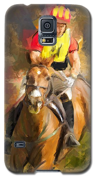 Galaxy S5 Case featuring the painting Hard Left by Joan Davis