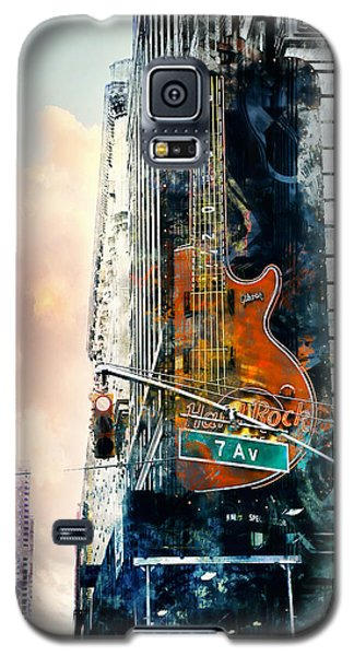 Hard Rock And 7th Ave. Galaxy S5 Case by John Rivera