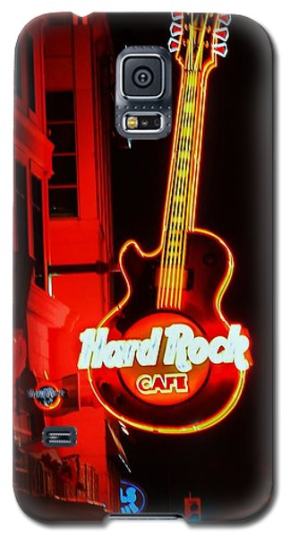 Galaxy S5 Case featuring the photograph Hard Rock Cafe' by Al Fritz