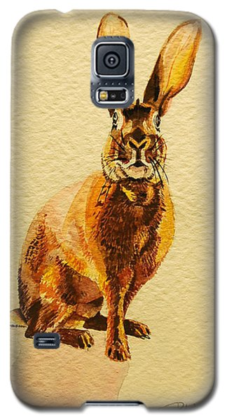 Galaxy S5 Case featuring the painting Hare by Pattie Wall