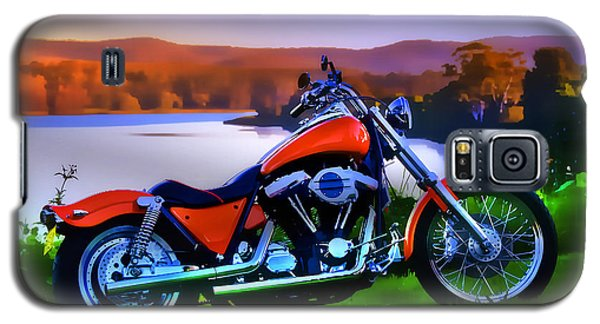 Galaxy S5 Case featuring the photograph Harley Art 01 by Kevin Chippindall