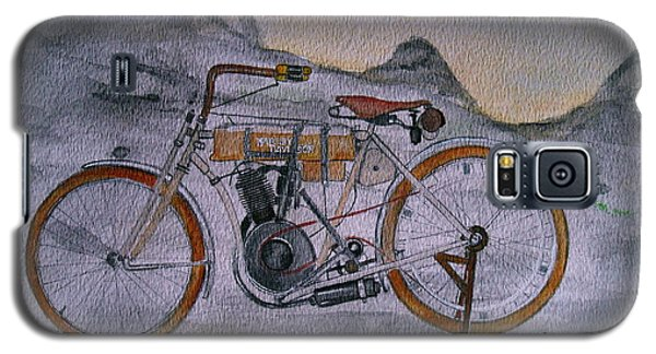 Harley Davidson 1907 Bike Galaxy S5 Case by Pristine Cartera Turkus