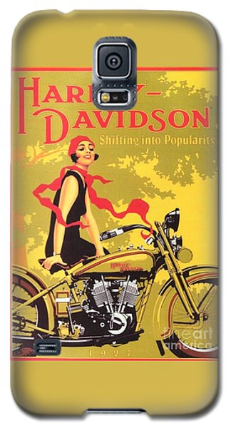 Harley Davidson 1927 Poster Galaxy S5 Case by Reproduction