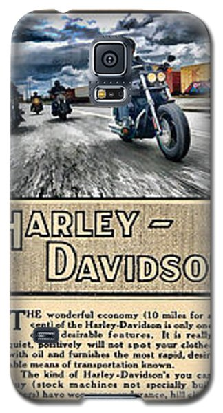 Harley-davidson Montage With Austin Map Galaxy S5 Case