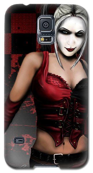 Galaxy S5 Case featuring the digital art Harley Quinn by Jeremy Martinson