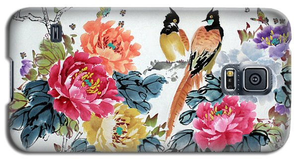 Galaxy S5 Case featuring the painting Harmony And Lasting Spring by Yufeng Wang