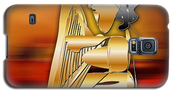 Galaxy S5 Case featuring the digital art Harp Player by Marvin Blaine