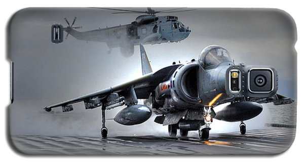 Harrier Gr9 Takes Off From Hms Ark Royal For The Very Last Time Galaxy S5 Case by Paul Fearn