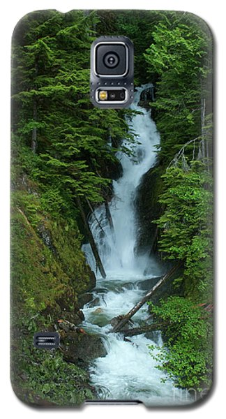 Galaxy S5 Case featuring the photograph Harrison Lake Road Falls by Rod Wiens