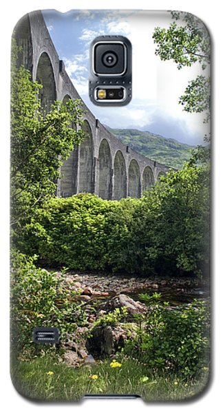 Galaxy S5 Case featuring the photograph Harry Potters Glenfinnan Viaduct Scotland by Sally Ross