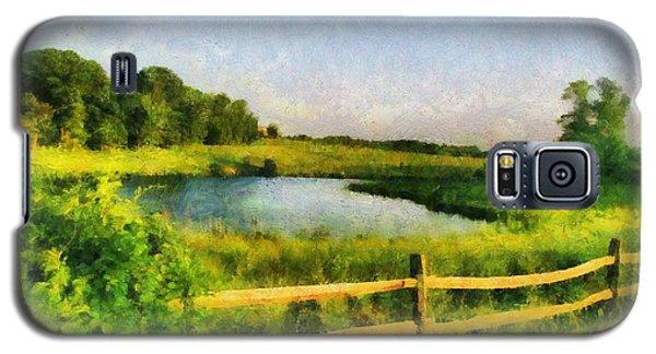 Galaxy S5 Case featuring the digital art Harvard Landscape by Kai Saarto