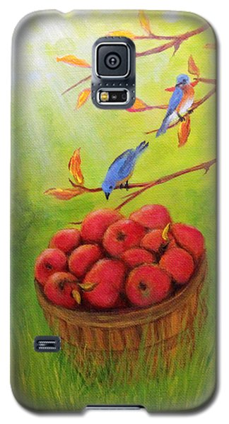 Harvest Apples And Bluebirds Galaxy S5 Case by Janet Greer Sammons