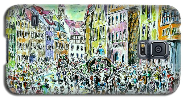 Galaxy S5 Case featuring the painting Harvest Festival Procession by Alfred Motzer