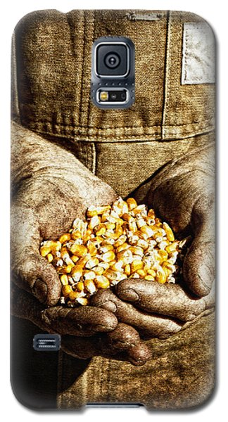 Harvest In His Hands Galaxy S5 Case by Lincoln Rogers